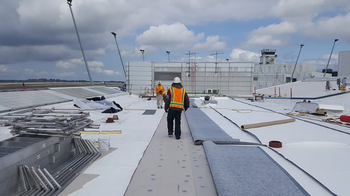 Sea-Tac International Airport Concourse B Roof Overlay